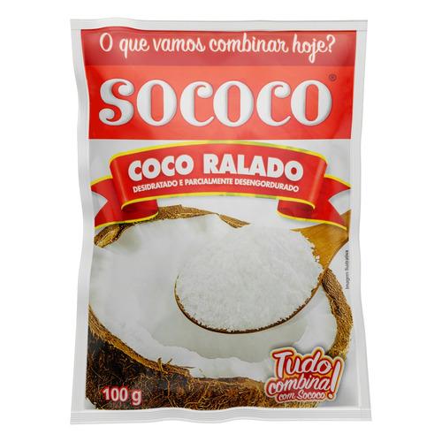 Coco Ralado Desidratado Sococo Pacote 100g