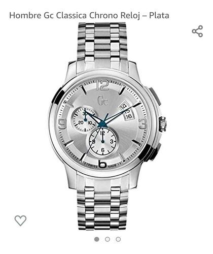 Reloj Guess Collection Gc Hombre Plateado Clásico  83001g1s