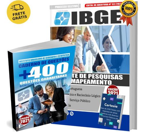 Kit Apostila Agente De Pesquisa Mapeamento Ibge Testes