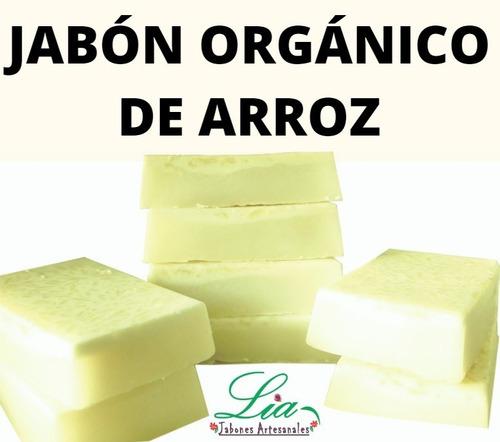 Jabón Artesanal Arroz Blanqueador, Aclarante, 100% Orgánico