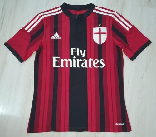 Linda Camisa Do Milan 2015 adidas Fly Emirates