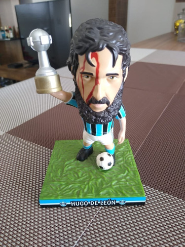 Miniatura Grêmio, Hugo De Léon, 12 Cm, Novo.