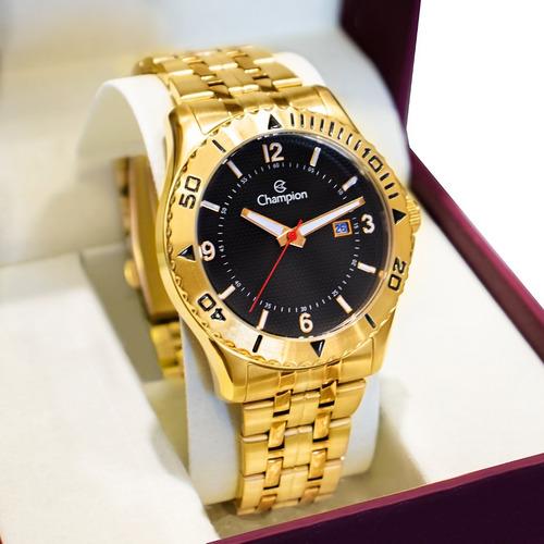Relógio Champion Masculino Dourado Analógico Ca31373u