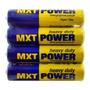 Pilha Aaa Média 1, 5v Super Heavy Duty Mxt Power 4 Unidades