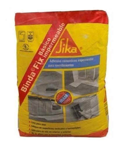 Pegamento Para Ceramica Sika Bindafix Impermeable X 30kg