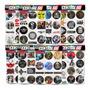 Cartela 95 Adesivos Música Rock Psvita Gameboy Classicos M2