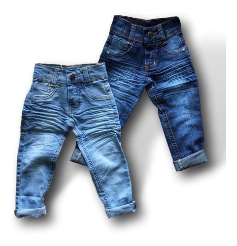 Combo 2 Calça Jeans  Infantil Meninos 1 A 6 Anos Promoção
