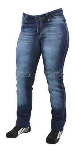 Calça Moto Jeans Com Proteção Hlx Feminina Concept