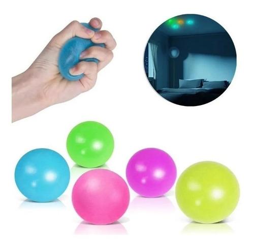 Fidget Toy Bolinha Anti Stress Globble Luminosa Gruda Teto