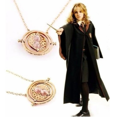 Collar Gira Tiempo Hermione Harry Potter Reliquias Muerte