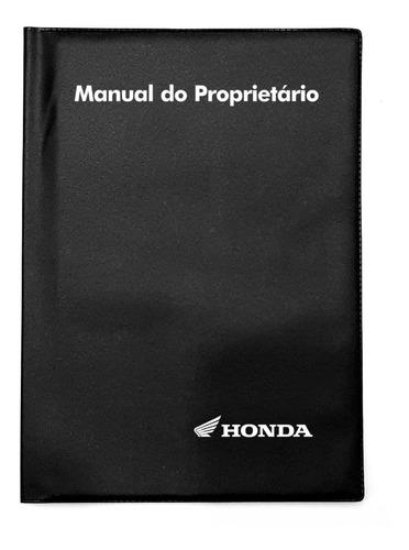 Capa Porta Manual Proprietário Honda Moto Pvc