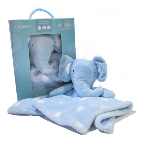 Bebê Naninha Pelúcia Macia Safári Elefante Rosa, Azul, Cinza