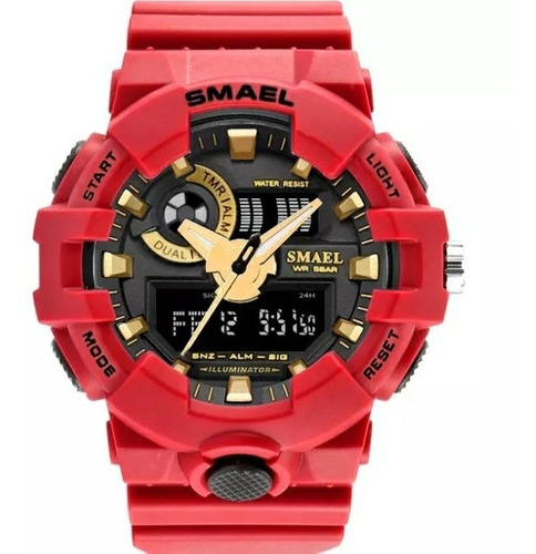 Relógio Masculino Esportivo Militar Shock Smael 1642 Cores