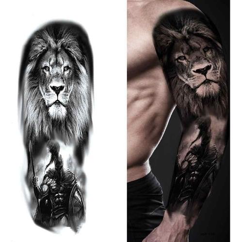 Tatuagem Temporaria Feminina Leão Lion Da Força - Perfeita