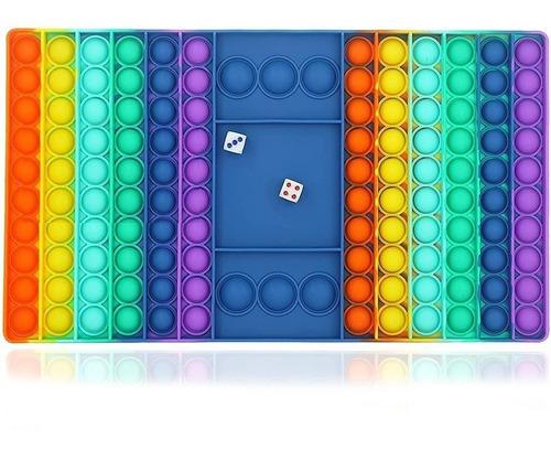 Pop It Fidget Toys Anti-stress Tabuleiro Grande Com Dados