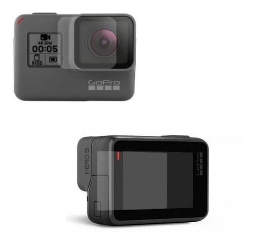 Kit Películas Vidro Camera Gopro Hero 5 6 7 (lente + Visor)