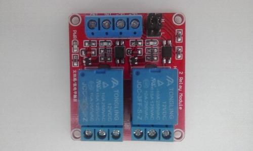 Módulo Rele De 2 Canal 12v 10a Arduino Optoacoplado