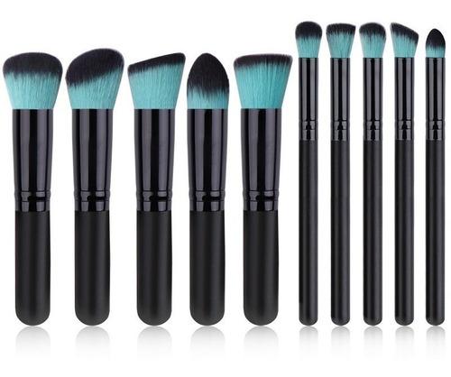 Kit Pinceis Maquiagem Kabuki Precisao 10 Pcs Pronta Entrega