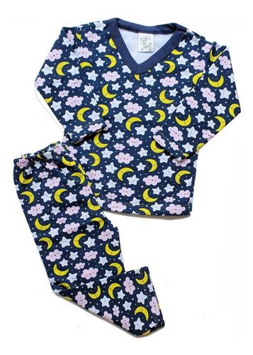 Conjunto Pijama Flanelado Moletom 100% Algodão Infantil