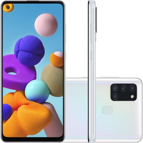 Smartphone Samsung Galaxy A21s Tela 6.5 64gb 4gb Ram Branco