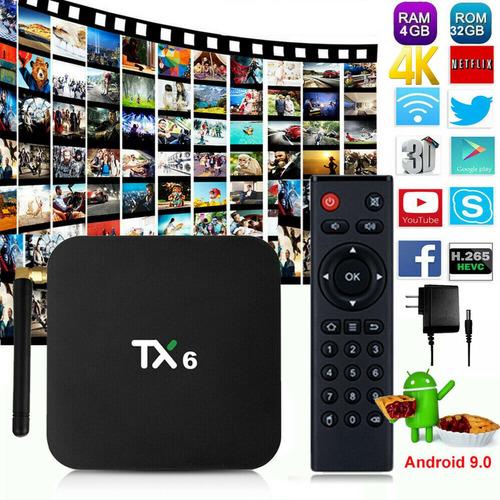 Tv Box Tx6 Smart Tv 4gb Ram + 32gb Rom Android 9.0 Potente!