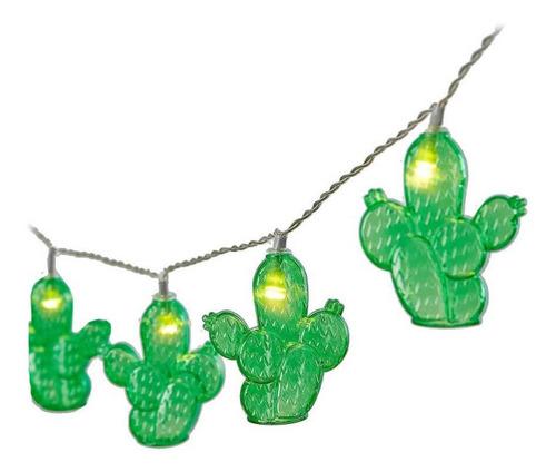 Cordão De Luz 10 Cactus 1, 80m Varal Luz Led Cacto