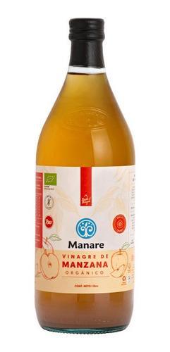 Vinagre De Manzana 1 Lt Orgánico Manare Con Madre Sin Gluten