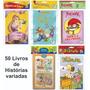 50 Livros Infantis C/ Histórias Clássicos Variadas Atacado