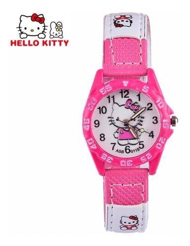 Relógio Infantil Menina Rosa - Ponteiro Festa Hello Kitty