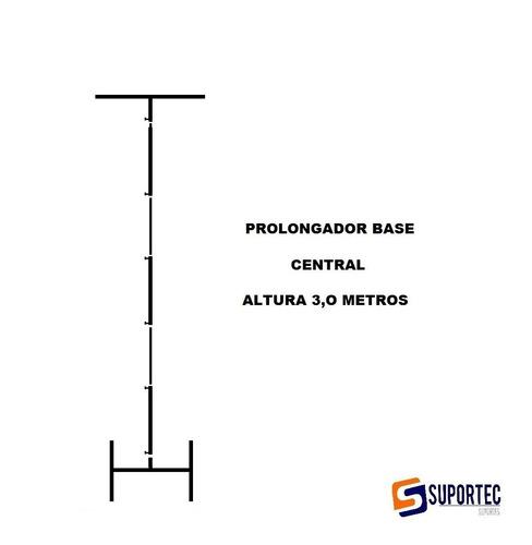 Base Central Para Suporte Painel Suportec 3 M Altura