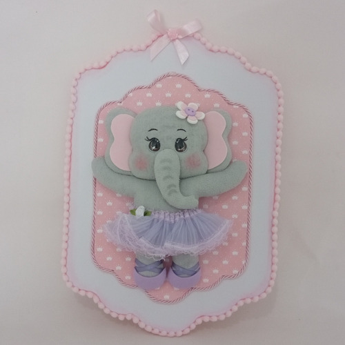 Placa De Porta Elefanta Bailarina - C2