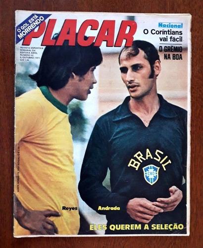 Revista Placar 82 -abril-1971-ótima Poster Roberto-botafogo Original