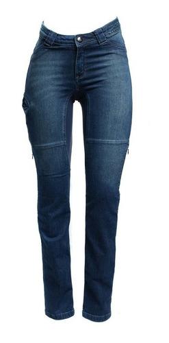 Calça Jeans Com Proteção Moto Hlx Feminina Malibu