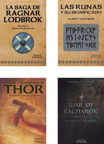 Combo 4 Libros Nordicos  Vikingos Thor Runas Ragnar Ragnarok
