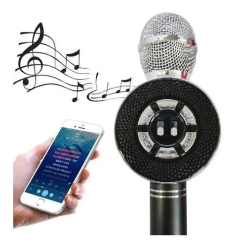 Microfone Bluetooth Karaokê Som Youtuber Remix Gravador Usb