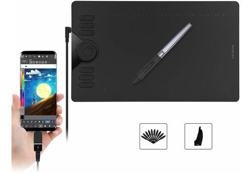 Tableta Gráfica De Dibujo Huion Hs610, 28 Teclas Mac/android