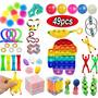 Pop It Fidget Toy Silicone Stress Reliever 49pcs