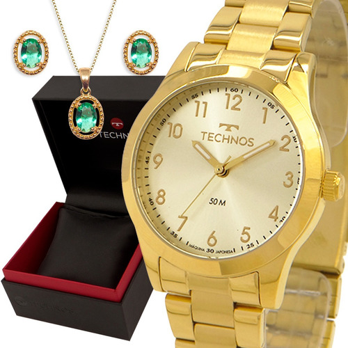 Relógio Feminino Dourado Technos Prova D'água Garantia 1 Ano