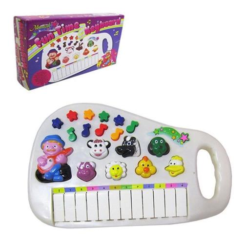 Piano Infantil Musical Educativo Som Animais Fazenda