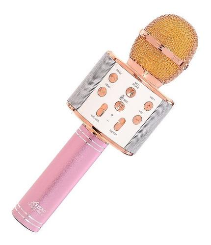 Microfone Karaokê Bluetooth Sem Fio Usb P/ Youtuber Reporter