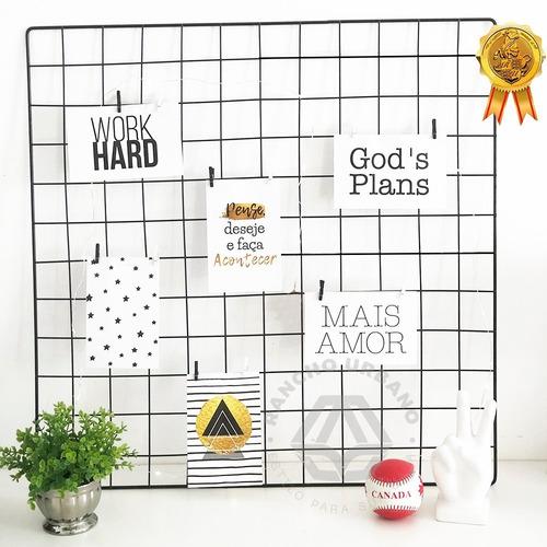 Memory Board Decorativo Exclusivo Com Luzes E Prendedores