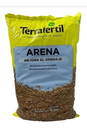 Arena Gruesa 5 Litros Terrafertil Mejora El Drenaje