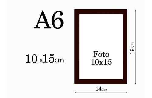 Porta Retrato 10x15 C/ Vidro Para Decorar Escritório Salas