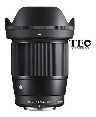 Lente Sigma 16mm F/1.4 Dc Dn P/ Sony E-mount C/ Nfe