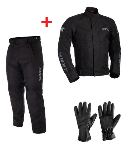 Conjunto Texx Impermeavel Moto Jaqueta Calça E Luva