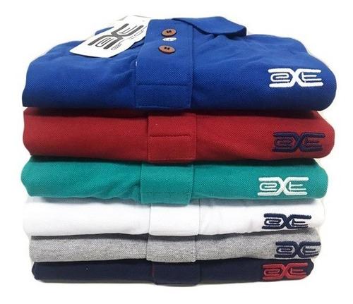 Kit 04 Camisas Polo Plus Size Piquet  Xg Xgg Xxg Oferta
