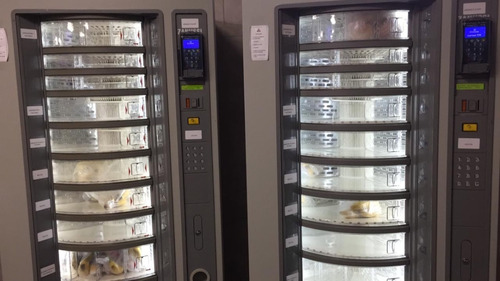 Maquina Expendedora De Sándwiches Yogur Fruta Bebidas Y Mas