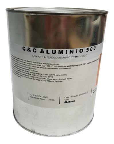 Pintura De Aluminio Difuso Alta Temperatura 500 Grados
