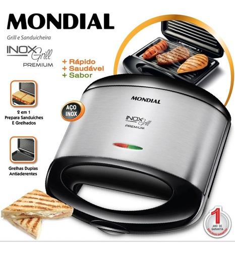 Sanduicheira E Grill Mondial Premium S-07 Mondial - Inox