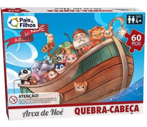 Quebra Cabeças - A Arca De Noé 60 Peças, Pais & Filhos